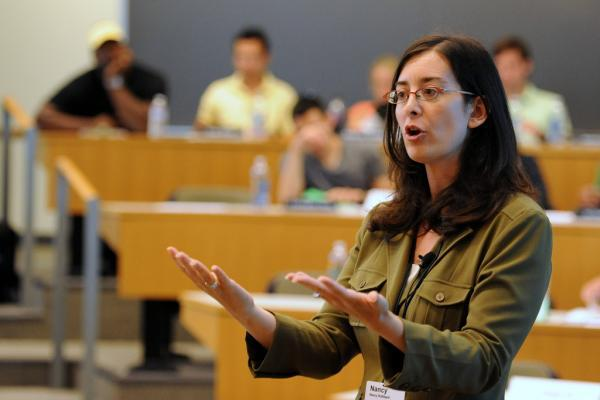 Professor in lecture